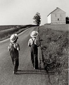 George Tice:  Two Amish Boys,  Pennsylvania  (1961)
