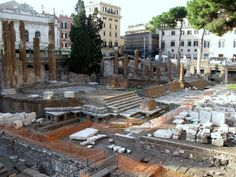 Largo di Torre Argentina - where Caesar was killed, now a cat sanctuary!