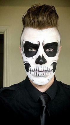 Skeleton Halloween makeup by my. 2015.