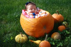 Adorable baby fall photoshoot, my little pumpkin!