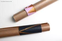 DIY Geschenkpapier Halter // DIY Gift Wrapping Holder