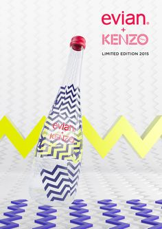 Evian s'offre Kenzo. Kenzo, Agua Mineral, Mineral Water, Water Packaging, Brand Packaging, David Lynch, Edition Limitée, York, Personal Branding