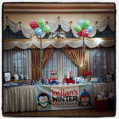 Winter Onederland Theme Balloons By D & K Designs, Candy station done by Golden State of Confetti