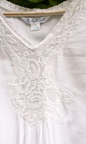 Isabella Ladies Nighty - http://www.aprilcornell.com/product/Isabella-Ladies-Nighty-NTAA5282W-White/nightwear