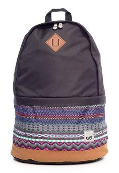 Mochila escolar Cavalier preta com estampa étnica - Enluaze Loja Virtual | Bolsas, mochilas e pastas