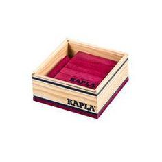 Kapla box wijnrood 40 stuks  Met deze aanvulset van Kapla plankjes kunnen jong en oud hun creativiteit de vrije loop laten. Bouw de mooiste constructies met de 40 wijnrode houten plankjes. Geleverd in een stevig houten kistje met schuifdeksel.  EUR 11.99  Meer informatie
