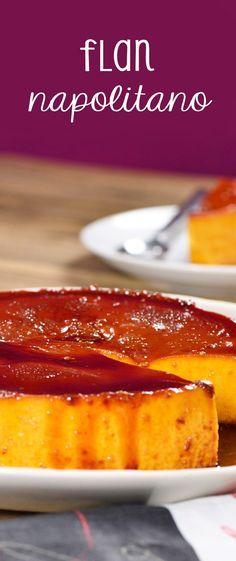 Esta receta de Flan Napolitano tradicional no puede faltar en tu recetario de repostería.