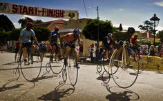 Cyclists competing in the 2013 Penny-farthing championships in Evandale. #Evandale #penny-farthings #Tasmania #Espectra Photography & Design