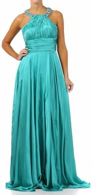 Turquoise Formal Gown Long Turquoise Military Ball Gown Halter Full length