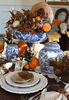 Thanksgiving tablescape... classic elegance