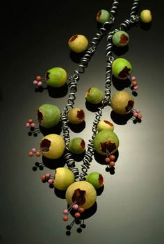 Pinch pod Neckpiece by Kathleen Dustin