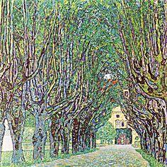 Avenue of Schloss Kammer Park Painting Print