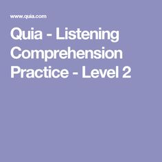 Listening comprehension definition