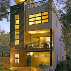 Modern 2 storey house plans with garage google search - 3 storey building exterior design ...