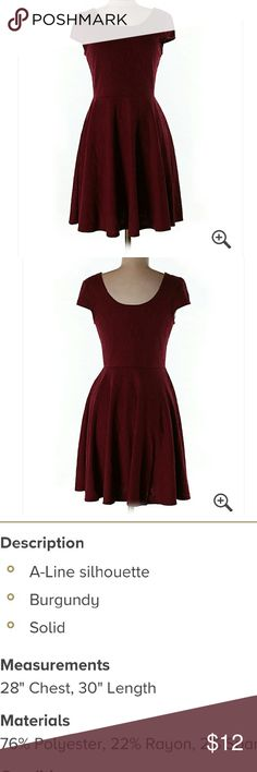 Cute mossimo dress size m Worn a few times. Maroon color. No holes or stains Mossimo Supply Co. Dresses Mini