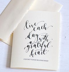 Thanksgiving greeting cards modern calligraphy cards