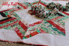 Piece N Quilt: Joyful Jelly Roll Christmas Tree Skirt