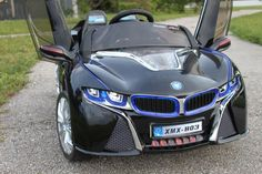 LED Wheels 2016 Sport BMW i8 Style Powered Car For Kids   Black