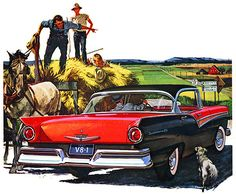 Plan59 :: Classic Car Art :: 1957 Ford Fairlane 500