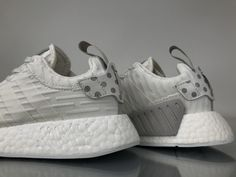 """Adidas NMD R2 Primeknit """"WhiteSilver"""" BY2245 Women Ladies Girls Real Boost for Sale6"""