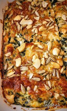 Σουφλέ σπανάκι και τυρί με λίγους υδατάνθρακες.