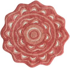 Add color and comfort to your bathroom with the Jessica Simpson Medallion Bath Rug. The colorful flower medallion-shaped bath rug is crafted of absorbent, all-cotton plush pile to catch and soak up all your bath and shower splashes. Bathroom Rugs, Bath Rugs, Coral Bathroom, White Bathroom, Bathroom Bath, Bathrooms, Accent Rugs, Joss And Main, Rugs Online