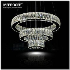 Find More Pendant Lights Information about Hot sale LED K9 Crystal Ring Pendant…