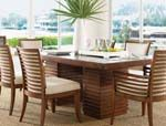 Tommy Bahama Home Ocean Club Peninsula Dining Table by Lexington Home Brands