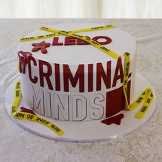 Criminal Minds cake by Cutie Cakes