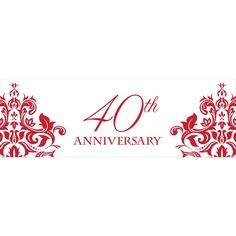 Ruby 40th Anniversary Giant Banner