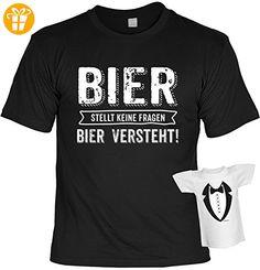 Lustiges Witziges T Shirt Funshirt Leiberl Mit Mini Shirt   Geburtstag  Geschenk Geschenkidee Weihnachten Papa Freund Karneval Bier Stellt Keine  Fragen Gr: ...
