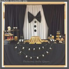 Ideas birthday men party backdrops for 2019 50th Birthday Party, Man Birthday, Birthday Table, Birthday Backdrop, Elegant Birthday Party, Birthday Decorations For Men, Wedding Decorations, 21st Birthday Ideas For Guys, Manly Party Decorations