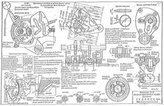 russian m-72 blueprints  schematic drawingmotorcycle enginecar