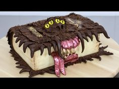 Harry Potter's Monster Book Of Monsters Cake - Decorating with Modeling Chocolate - YouTube