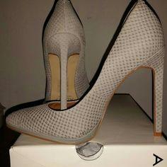 "Aldo - Kristina - US 7 - EU 38 Super sexy, grey - textured nubuck leather - heel measures 4.75"" - excellent condition - worn maybe 2x ALDO Shoes Heels"