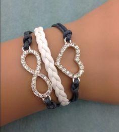 Heart & Infinity Fashion Bracelet
