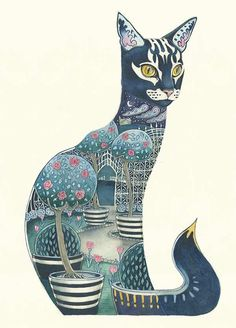 Cat at Night  - Print, Daniel Mackie