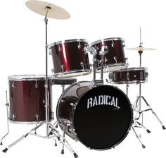 Cannon RAD5WR 5-Piece Drum Set by Cannon. $383.23. RADICAL 5 Drum Set Wine Red