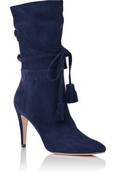 Manolo Blahnik Cavamod Suede Ankle Boots   Barneys New York