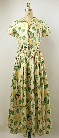 Dress  Date: probably 1930s Culture: French Medium: cotton