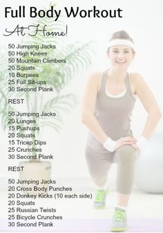 Exercise is so important. If you're looking for quick and easy full-body workouts to do at home (with no equipment) then you're in luck! Informations About Full Body Workouts That You Can Do At Home – The Inspiration Lady Pin… Continue Reading → Full Body Workouts, Full Body Workout At Home, At Home Workout Plan, Home Body Weight Workout, Full Body Bodyweight Workout, Body Weight Exercises, Full Body Strength Workout, Mom Workout, Full Body Workout Routine