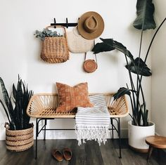 When design meets function, please and thank you! It doesn't always happen, for example this bench. It's rad, but honestly became the… Home Decor Inspiration, Aesthetic Room Decor, Interior, Home Decor, Room Inspiration, House Interior, Room Decor, Bedroom Decor, Aesthetic Rooms