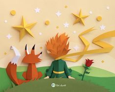 Beautiful Paper Crafts Beautiful Paper Crafts Beautiful Paper Art Inspired The Little Prince Origami Paper, Paper Quilling, Origami Boxes, Dollar Origami, 3d Paper Art, Paper Cut Out Art, Paper Art Design, Film Paper, Paper Paper