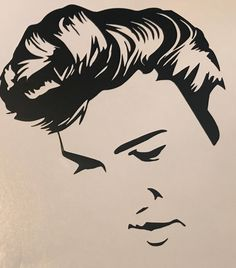 A personal favorite from my Etsy shop https://www.etsy.com/listing/585720615/elvis-presley-silhouette-vinyl-decal