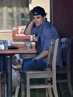 Paul Wesley and His Dog Have Lunch in LA While Paul Wesley isnt technically a dog owner, he clearly loves them enough to puppy-sit for his pal Ben McKenzie. The question is: whos cuter — man or beast? (Its a tough one, we know.)