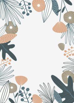 Illustration Blume, Pattern Illustration, Botanical Illustration, Nature Illustration, Doodle Background, Background Patterns, Vector Background, Cute Pattern, Pattern Art