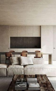 Home Interior Simple Interior Design Living Room, Living Room Designs, Living Spaces, Interior Decorating, Kitchen Interior, Minimalist Interior, Minimalist Home, Küchen Design, House Design