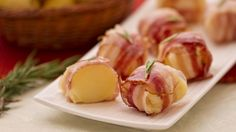 Bocconcini di patate formaggio e pancetta (appetizer: potatoes with bacon and cheese)