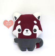 "Plushie Sewing Pattern PDF - Pip Red Panda cute soft plush toy - cuddly stuffed animal 13"" by TeacupLion on Etsy https://www.etsy.com/listing/156858130/plushie-sewing-pattern-pdf-pip-red-panda"