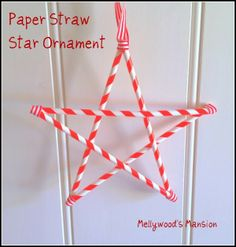 Paper Straw Stars a quick and easy craft for kids